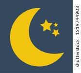 moon night icon vector   Shutterstock .eps vector #1319744903