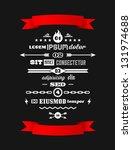 vintage retro typographic...   Shutterstock .eps vector #131974688