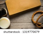 vintage genuine leather wallet... | Shutterstock . vector #1319770079