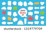 speech bubble vector set in... | Shutterstock .eps vector #1319779709