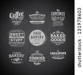 set of retro bakery labels ... | Shutterstock .eps vector #131978603
