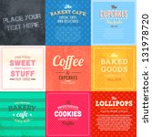 set of retro bakery label cards ... | Shutterstock .eps vector #131978720