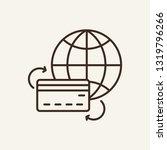 money transfer line icon.... | Shutterstock .eps vector #1319796266