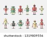 retro vintage funny vector... | Shutterstock .eps vector #1319809556