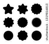 black badges with copy space.... | Shutterstock .eps vector #1319816813