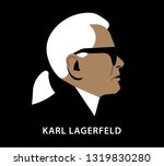 paris  22 february 2019  karl... | Shutterstock .eps vector #1319830280