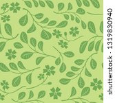 green seamless pattern with... | Shutterstock . vector #1319830940