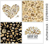 bakery set  logo and pattern... | Shutterstock .eps vector #1319844443