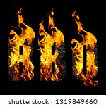 bbq. abbreviation for word... | Shutterstock . vector #1319849660