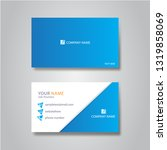 elegant template business card | Shutterstock .eps vector #1319858069