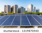 solar and modern city skyline  | Shutterstock . vector #1319870543