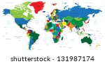 world map countries | Shutterstock .eps vector #131987174