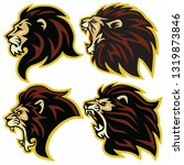 lion logo mascot collection... | Shutterstock .eps vector #1319873846