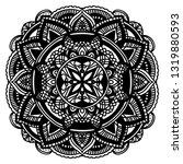 mandala ornamental black... | Shutterstock .eps vector #1319880593