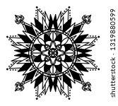 mandala ornamental black... | Shutterstock .eps vector #1319880599