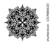 mandala ornamental black... | Shutterstock .eps vector #1319880620