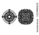 mandala ornamental black... | Shutterstock .eps vector #1319880623