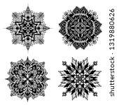 mandala ornamental black... | Shutterstock .eps vector #1319880626