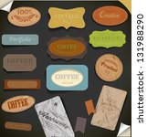 set of retro vintage labels.... | Shutterstock .eps vector #131988290