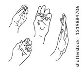 various gestures of human... | Shutterstock .eps vector #1319884706