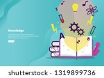 knowledge concept educational... | Shutterstock .eps vector #1319899736