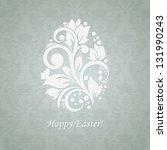 easter egg floral background.... | Shutterstock .eps vector #131990243