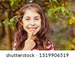 child pointing recently erupted ... | Shutterstock . vector #1319906519