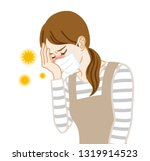 housewife who wearing a mask...   Shutterstock .eps vector #1319914523