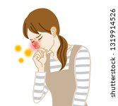 housewife suffering from hay...   Shutterstock .eps vector #1319914526