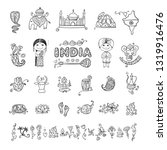 india  icons set. sketch for... | Shutterstock .eps vector #1319916476