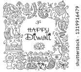 indian diwali festival holiday. ... | Shutterstock .eps vector #1319916479