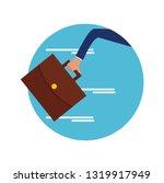 hand hold  briefcase run   Shutterstock .eps vector #1319917949
