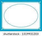 vector blue oval border frame.... | Shutterstock .eps vector #1319931203