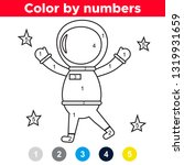 color by number for preschool...   Shutterstock .eps vector #1319931659