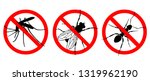 warning sign no insects.... | Shutterstock .eps vector #1319962190
