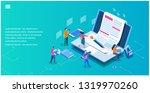 content marketing. seo... | Shutterstock .eps vector #1319970260