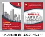 geometric business brochure... | Shutterstock .eps vector #1319974169