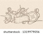 anchor  steering wheel and...   Shutterstock . vector #1319979056