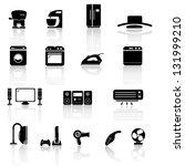 house appliance  icon set | Shutterstock .eps vector #131999210
