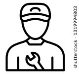 mechanic vector icon which can ... | Shutterstock .eps vector #1319994803