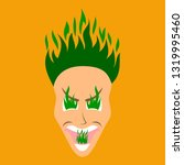 flat icon on theme evil face   Shutterstock .eps vector #1319995460