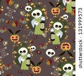 halloween background seamless | Shutterstock .eps vector #131999573