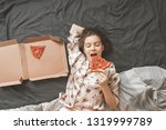 portrait of a cute girl wearing ... | Shutterstock . vector #1319999789
