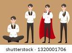 businessman in thinking...   Shutterstock .eps vector #1320001706