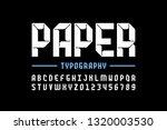 modern origami style font ... | Shutterstock .eps vector #1320003530