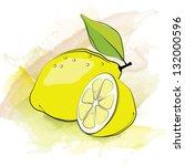 lemon. vector illustration | Shutterstock .eps vector #132000596