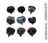 snout dogs set   Shutterstock .eps vector #1320013379
