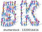 5k followers isometric vector...   Shutterstock .eps vector #1320016616