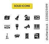 music icons set with wav file ...