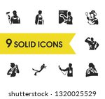 profession icons set with... | Shutterstock .eps vector #1320025529